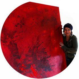rote abstrakte Bilder Gemälde