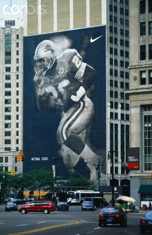 Barry sanders Nike ad Detroit. No matter what your team is like...keep on doing your best!