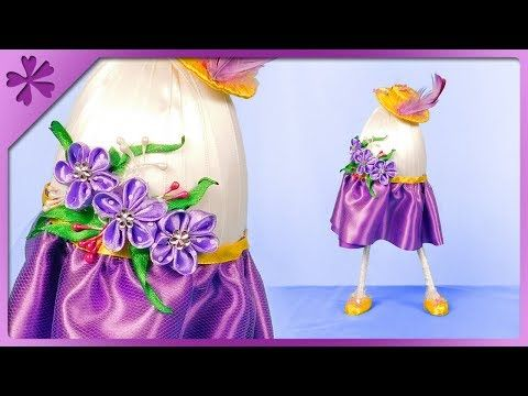 (187) DIY How to make standing Easter egg, spring lady (ENG Subtitles) - Speed up #465 - YouTube
