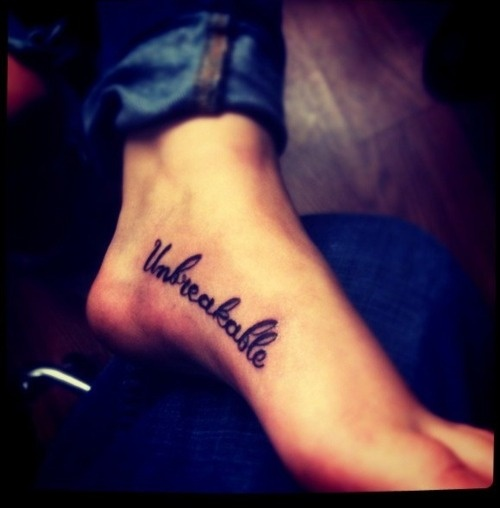 Foot Tattoo Designs Inspirational Quotes. QuotesGram