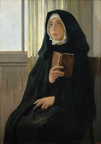 The Novice (1898). Joan Llimona (Spanish, 1860-1926). Oil on canvas. Museu Nacional d'Art de Catalunya.