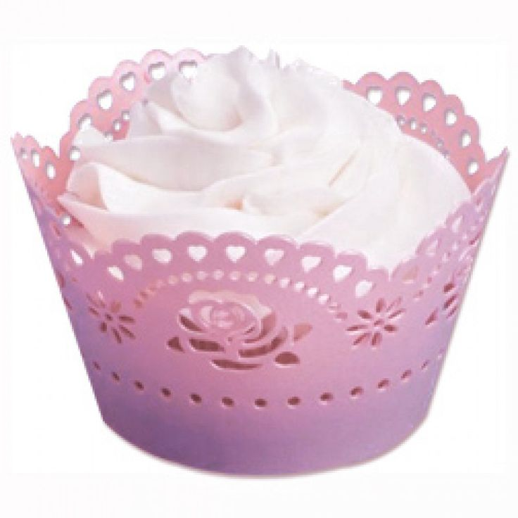 Pink Lace Cupcake Wrappers