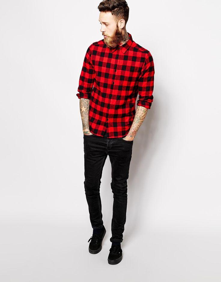 Les 25 meilleures id es concernant le tableau style b cheron sur pinterest styles masculins - Chemise rouge et noir homme ...