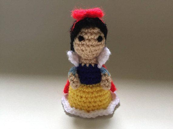 Snow white Crochet Doll Handmade Crochet DollMini Amigurumi