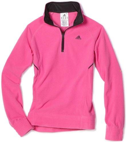 Adidas Girls 7-16 Quarter-Zip Microfleece, Intense Pink/Black, Small. From #adidas. Price: $36.00