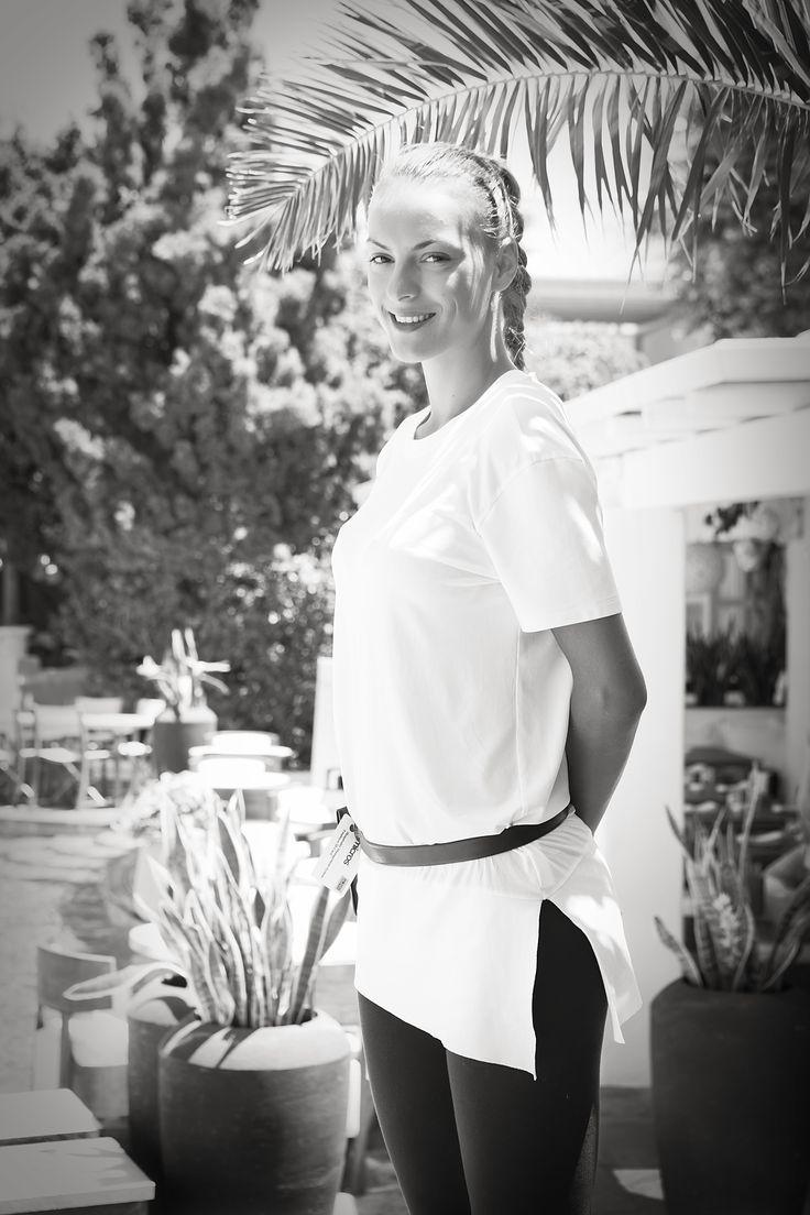 Michaela at the Belvedere Restaurant, Mykonos
