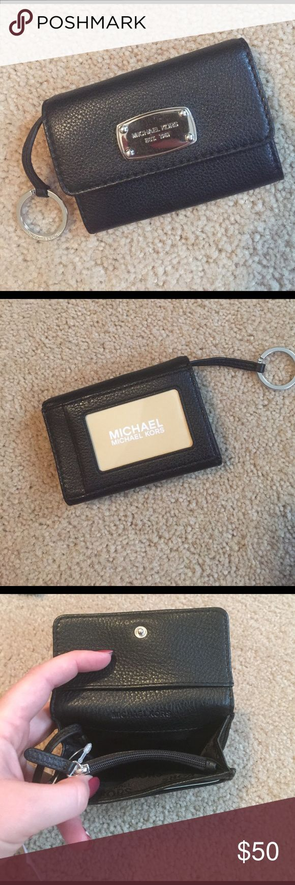 Michael kors coin purse wallet Authentic Michael kors leather flap coin purse. Black. New with tag. Michael Kors Bags Wallets