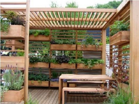 Planters for deck privacy