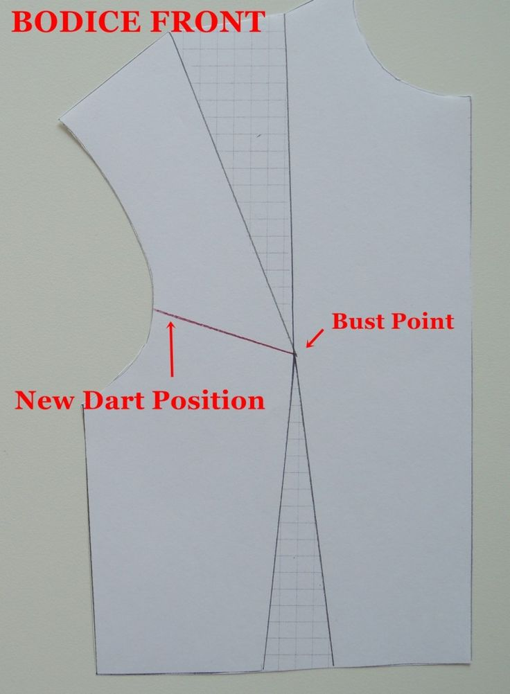 Very clear demosntration of how to transfer darts in a bodice pattern