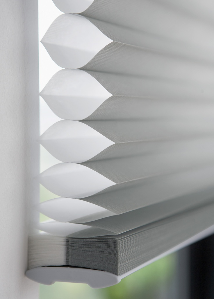 """Luxaflex """"Duette"""" blinds provide insulation in their honeycombe shape. ..a good way to save money on bill plus keep house cool in summer?"""