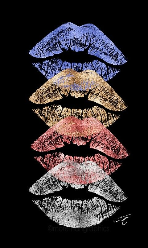 Four kisses is not enough..... although they're in color.......???