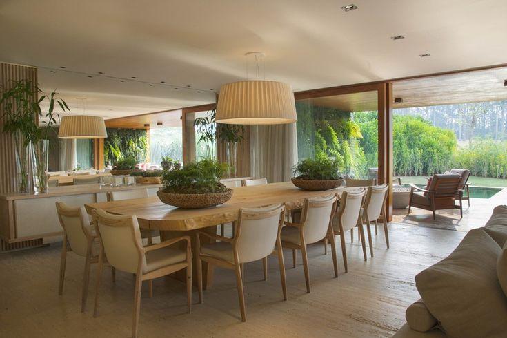 idéia compor sala de jantar Portfólio Debora Aguiar - Casa Vogue | Portfólio