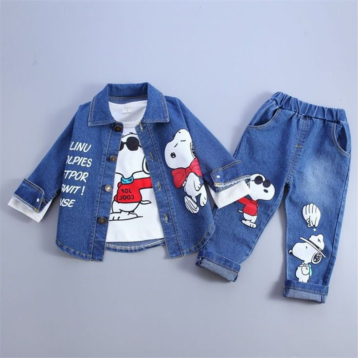$19.50 (Buy here: https://alitems.com/g/1e8d114494ebda23ff8b16525dc3e8/?i=5&ulp=https%3A%2F%2Fwww.aliexpress.com%2Fitem%2F3PCS-0-4Years-Autumn-Children-Boys-Girls-Clothing-Set-Baby-Suit-Cartoon-Dog-Denim-Jacket-Coat%2F32717953244.html ) 3pcs Suit 0-4Years Children Cotton Warm Tracksuits Clothing Set Baby Boys Girl Cartoon Dog Denim Jacket shirt Jeans Kids Clothes for just $19.50