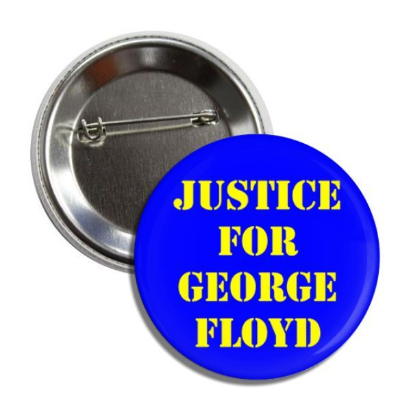 Justice For George Floyd Buttons Pocket Mirror Buttons Supportive