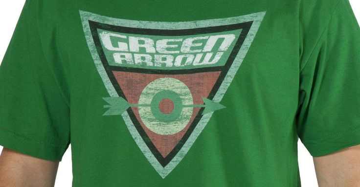 Shield Logo Green Arrow Shirt made by Trevco in collections: Super Heroes: DC Comics: Green Arrow, & Department: Adult Mens, & Color: Green