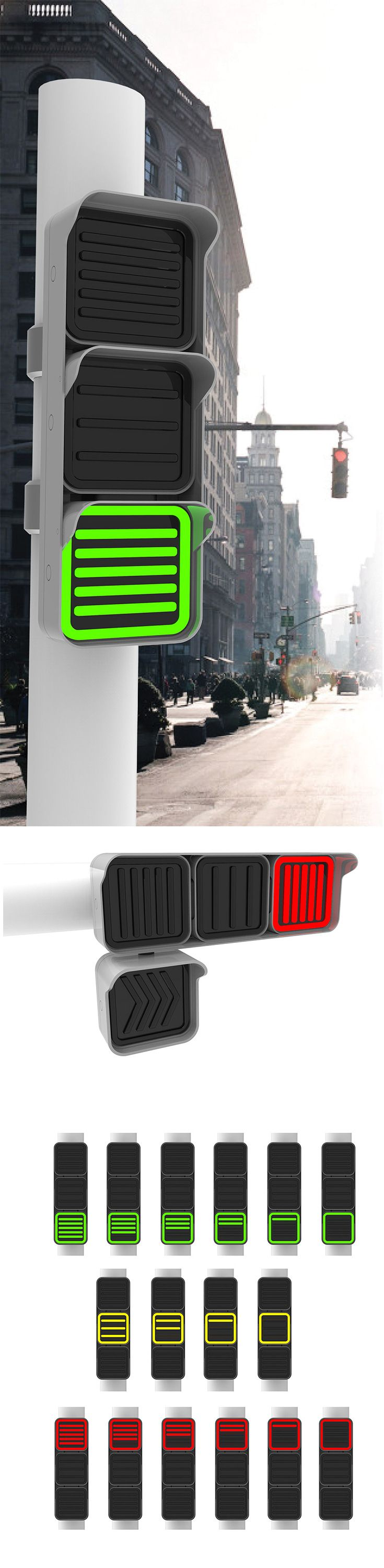 The only thing worse than a red light is not knowing when it's going to change. In fact, some are so long they'll leave you wondering if it's going to change at all! The FIK Light aims to alleviate this everyday stress by introducing an simplistic timer into the light itself. Its minimalistic design language is so easy anyone can read it.