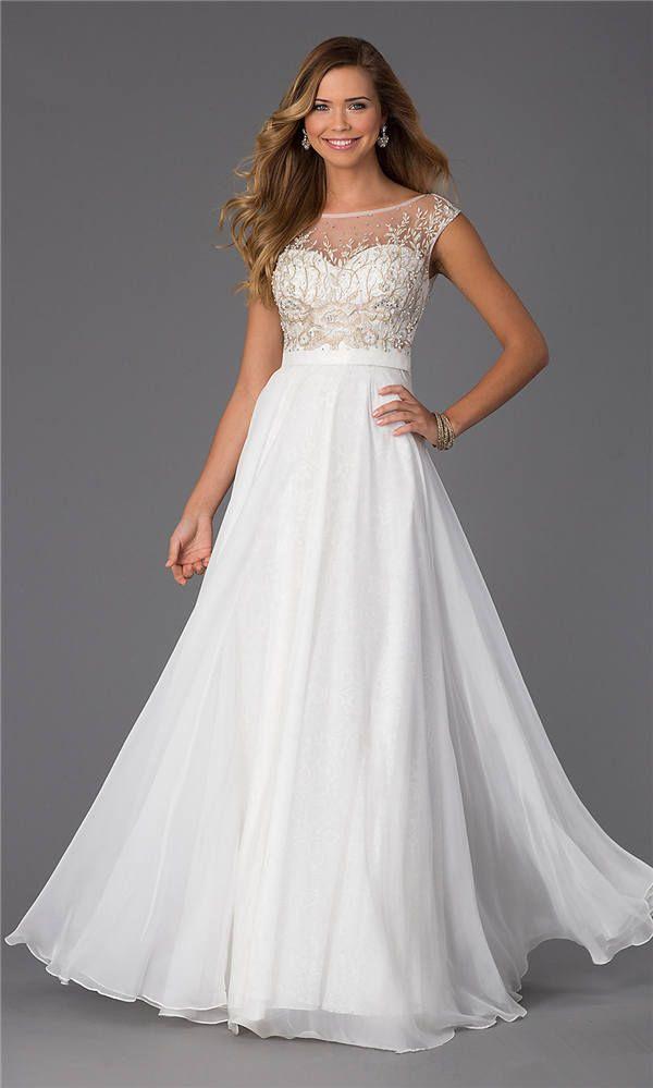 9 best long white prom dresses 2015 images on pinterest