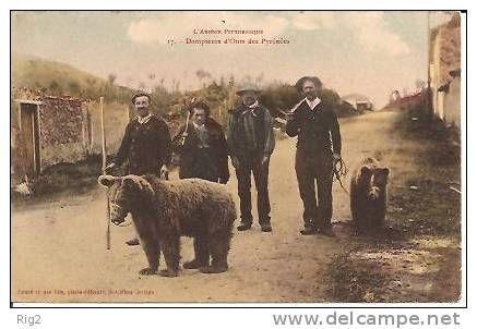 09 - ARIEGE - MONTREUR D´OURS (PETIT METIER - GROS PLAN) - Delcampe.net demonstrator niedźwiedzi stara pocztówka