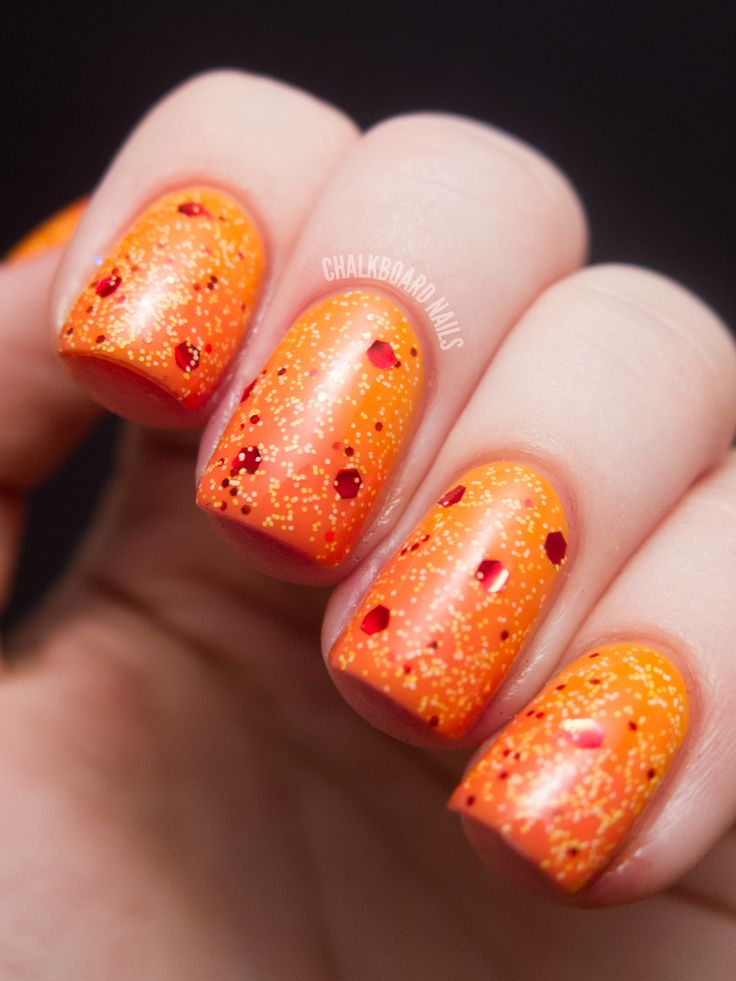 Chalkboard Nails: Surface of the Sun Nails. Let me just say 'hot'.