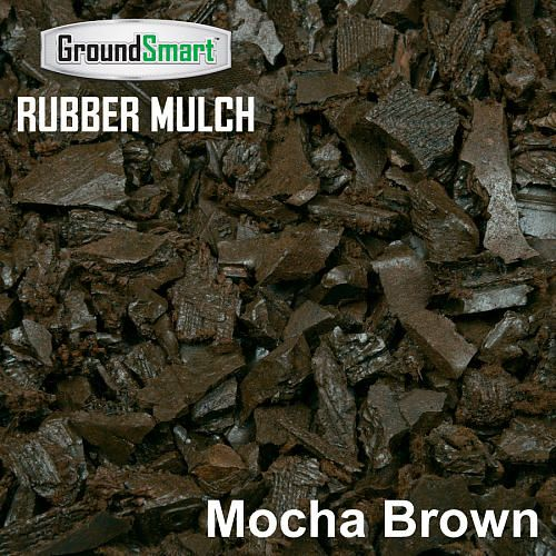 929.00 toys r us.....GroundSmart 100% Recycled Rubber Mulch NuggetPallet - Cedar Red