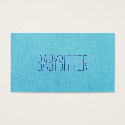 238 best childcare business cards images on pinterest business babysitter or nanny cute turquoise blue business card reheart Gallery
