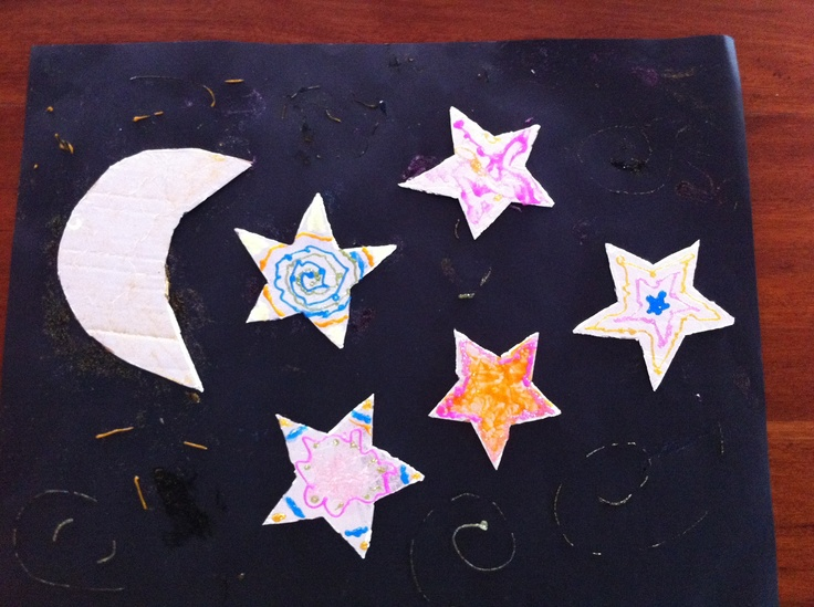 FOIL night sky picture. http://kidsactivitiesandtipsforeveryday.blogspot.com.au/