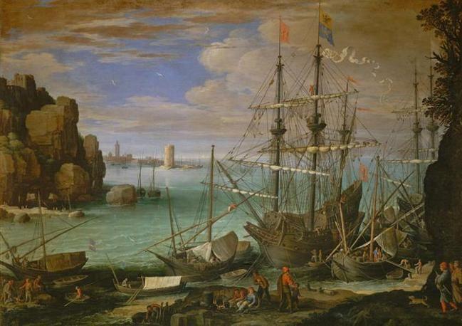 Veduta di un porto (1612)  Paul Bril (1554-1626)  Olio su tela (107 × 151 cm)  Roma, Galleria Borghese  © 2011, Foto Scala, Firenze