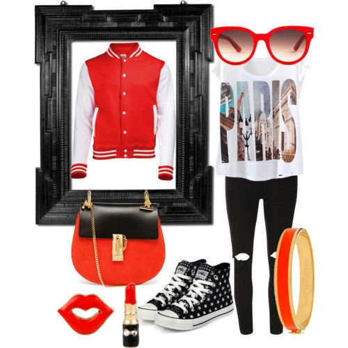 Varsity by wooga on Polyvore featuring polyvore fashion style Dorothy Perkins yeswalker Chloé Halcyon Days Betsey Johnson Equipment
