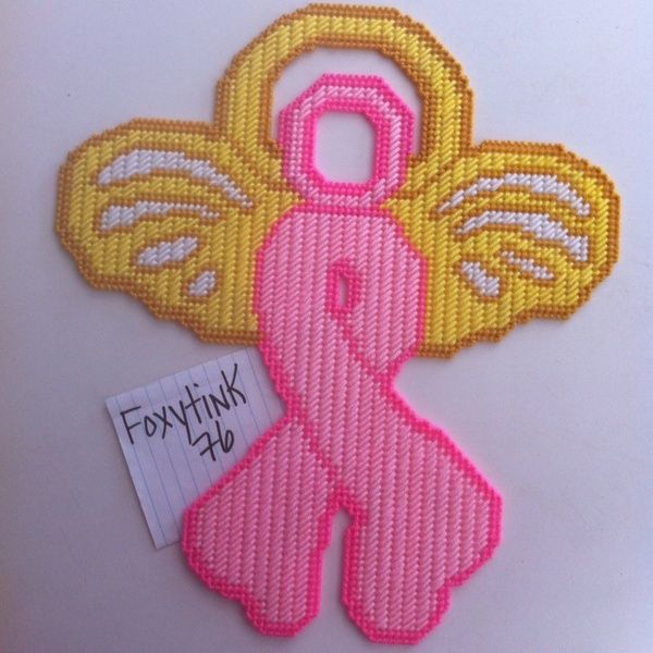 Free Plastic Canvas Christmas Patterns | Free Stuff: Breast Cancer Survivor Angel Plastic Canvas - Listia.com ...
