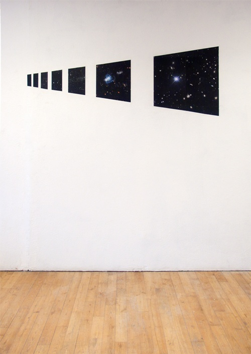 """""""Inside the spaceship"""",  Sticked paper on the wall"""