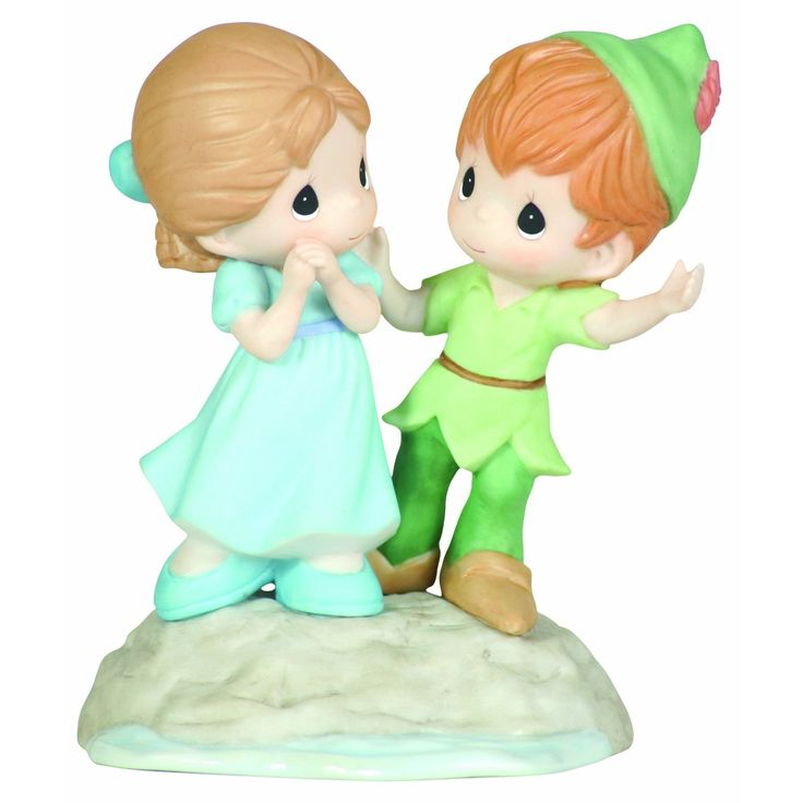 precious moment peter pan and wendy