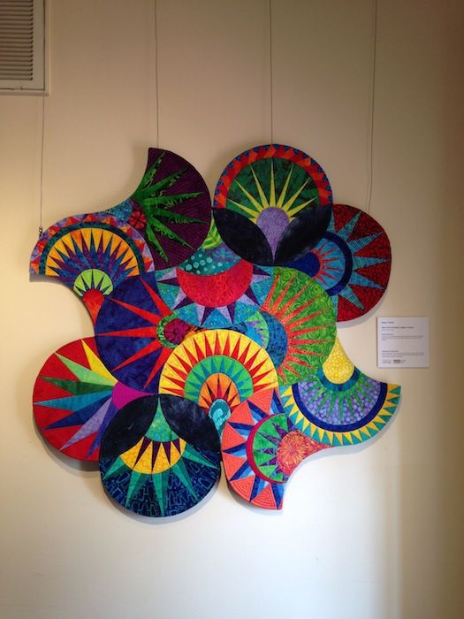 Daily dose of Fiber: This week I present art quilts from the PAQASouth show at the Page Walker in Cary, NC: Art Quilts Whimsy. So many great artists are here!