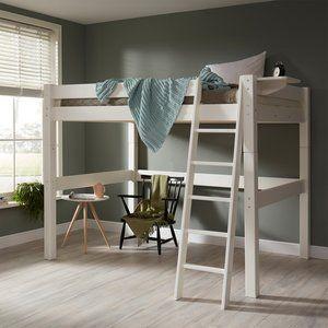 Super handig en stoer dit hoge twijfelaar bed 140x200 met shuine trap.Het bed is deelbaar en met bodem. Handig voor studenten of gewoon als je lekker veel ruimte wenst. Robuuste frame bestaat uit p...