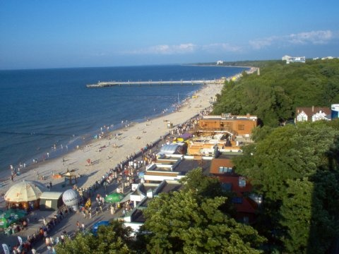 Poland/Kolobrzeg! Near of Mrzezyno (there is also a beach) and we drive there every time to go swimming or eating on the restaurants there! Near of mum's home town.