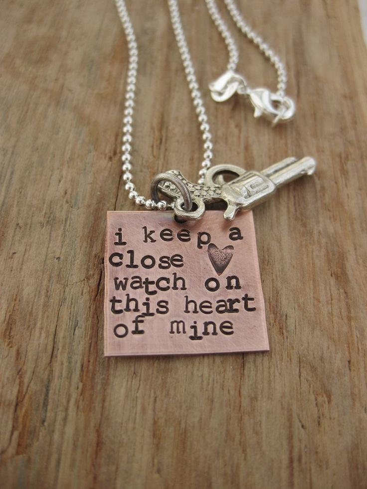 Johnny Cash quote necklace. $30.00, via Etsy. *