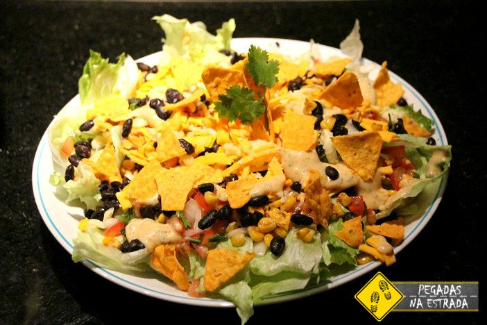 Salada sudoeste americano gastronomia mexicana americana receitas