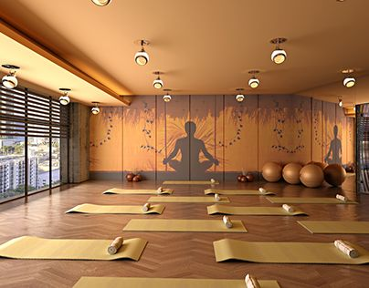 "check out new work on my behance portfolio ""yoga hall"