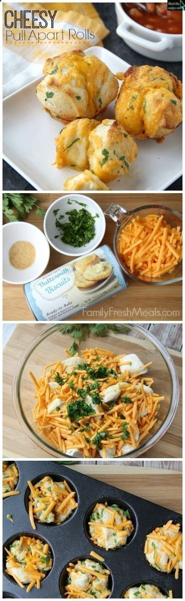 Easy Cheesy Pull Apart Rolls 5 minute prep and truly amazing | FamilyFreshMeals.com