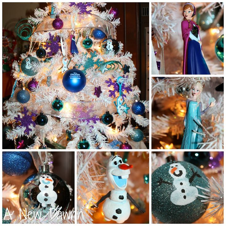 Disney's Frozen themed Christmas tree with handmade ornaments included.