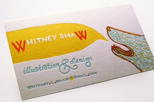 3 color letter press card. Whitney Shaw got bank.