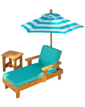 Kidkraft Kidu0027s Outdoor Chaise With Umbrella U0026 Table   Ruelala.com