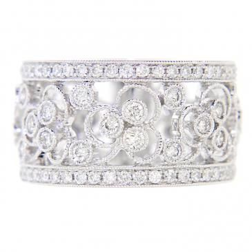 Thick wedding band instead of huge diamond engagement ring, ...