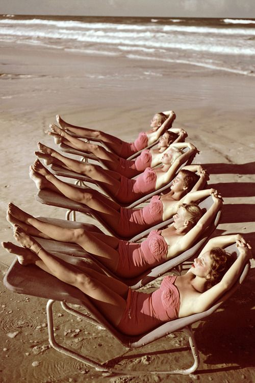 """""""Laying out"""" 1950's"""