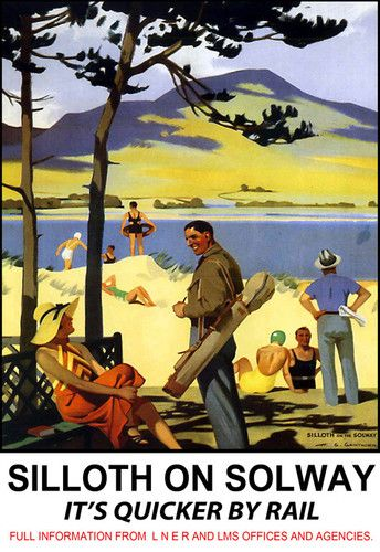 Silloth on Solway, vintage poster.