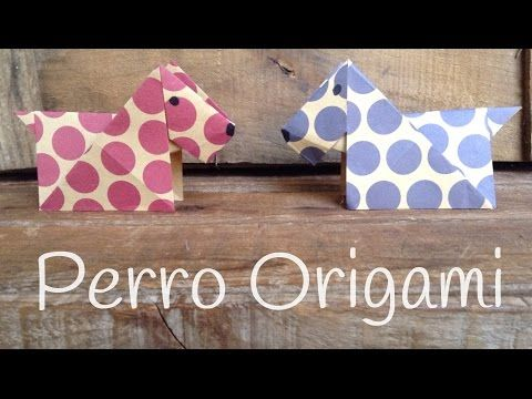 Perro de origami paso a paso, un origami fácil para niños ¡facilísimo! - Juntines.com