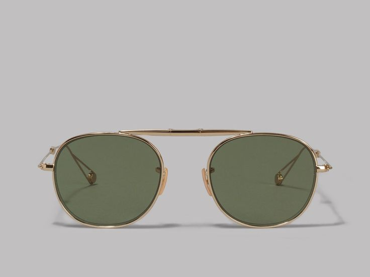 Garrett Leight Van Buren Sunglasses (Gold / Green)