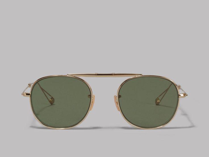 Garrett Leight Van Buren Sunglasses (Gold / Green)