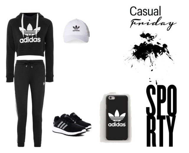 """Adidas Sport Vision"" by nermin-truma ❤ liked on Polyvore featuring adidas and adidas Originals"