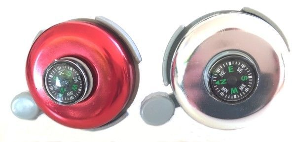 2x Schwarz Fahrrad Klingel Metall Fahrradklingel Glocke Kompaktglocke Laut X8H7
