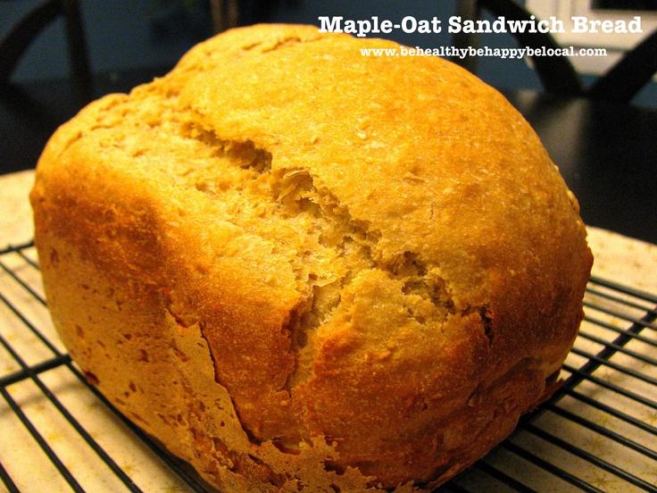 Maple-Oat Sandwich Bread www.behealthybehappybelocal.com